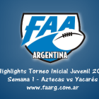 Tapa Video Highligths Semana 1 Juveniles